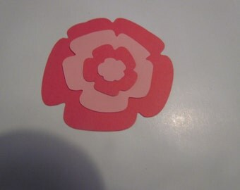 layered flower die cuts