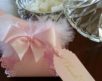 Pink TuTu Diaper Favors / Pink Baby Shower Favors / Pink Baby Shower