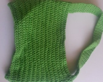 Spring green purse unique handcrafted crochet