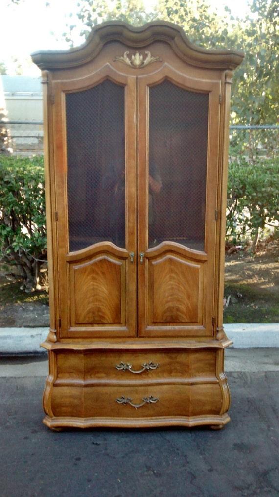 Dresser Armoire Thomasville French Provincial Wardrobe Cabinet