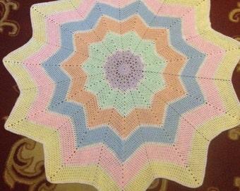Babys star shaped blanket