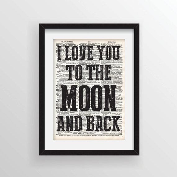 I Miss You To The Moon And Back Quotes: Quote I Love You To The Moon And Back Recycled