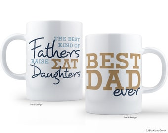 SDT Sigma Delta Tau Best Dad Mug Sorority Father Mug
