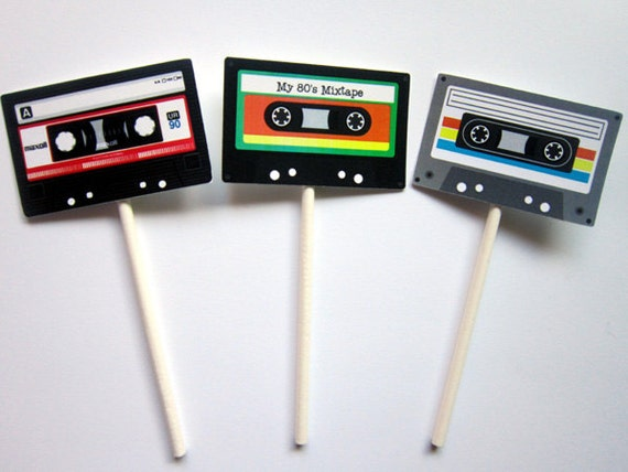 80 S Birthday Banner Cassette Tape Banner 80 S By Craftycue