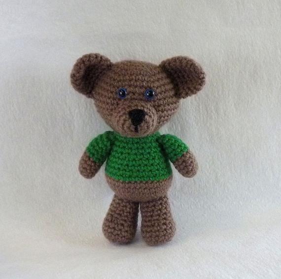 Amigurumi Little Bear : Little Bear in Green Amigurumi Bear Crochet Teddy by ...