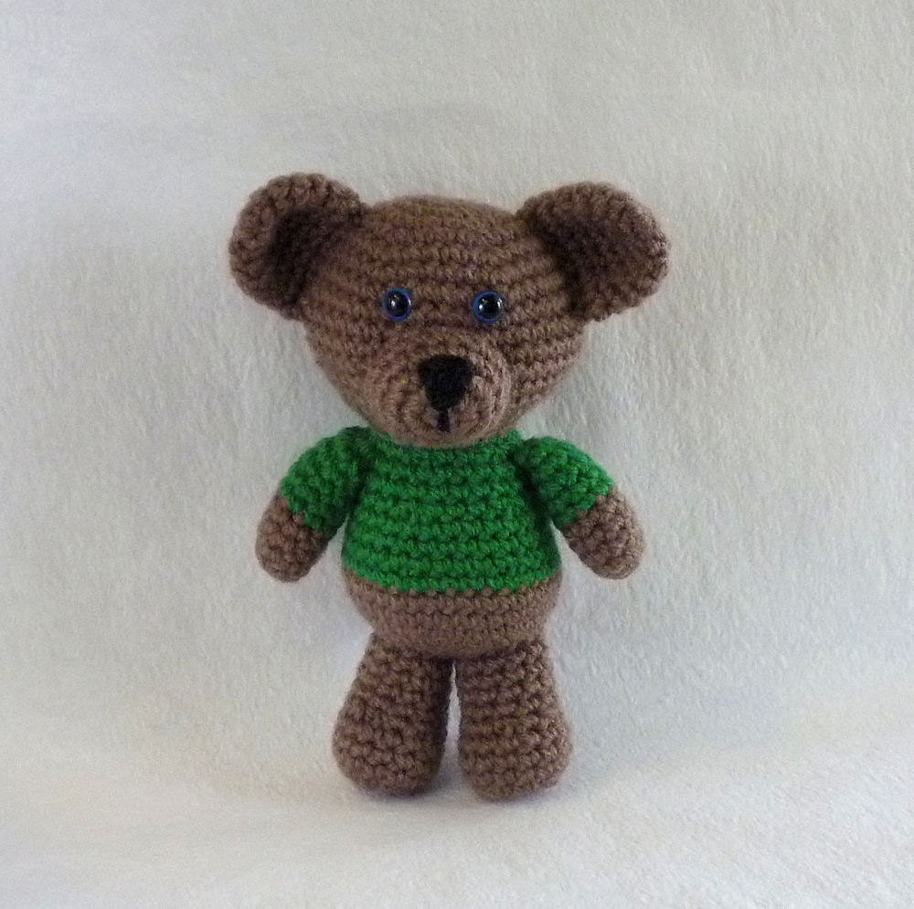 Amigurumi Little Teddy Bear : Little Bear in Green Amigurumi Bear Crochet Teddy by ...