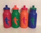 Kids Party Favor - Sports Bottles -basketball, soccer, baseball, cheerleading, football