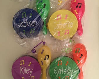 Personalized Tambourine and Maracas Set - Makes a great party favor