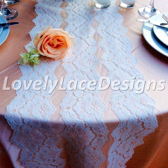Sale white lace table runner 3ft 10ft long x 11in wide for 10 foot table runner