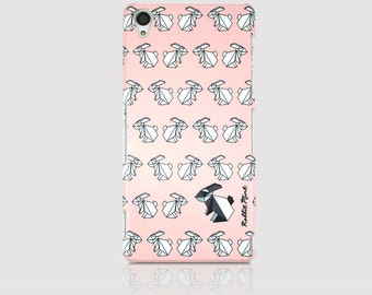 Sony Xperia Z3 Case - Origami Rabbit Pattern (P00070)