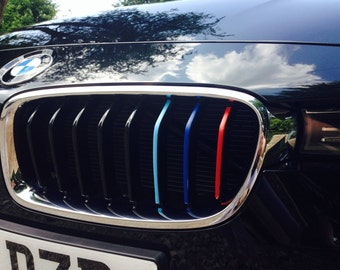 3 Series - BMW M Colored Kidney Grille Stripe Decal Sticker Set