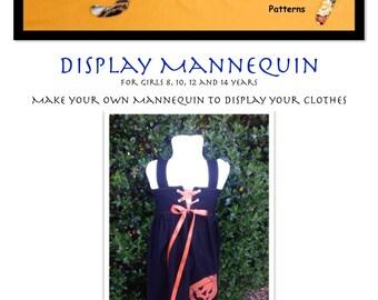 Display Mannequin PDF Pattern Girls size 8- 14 years