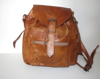 Vintage shoulder bag bag bag cognac