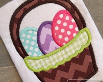 Easter Basket Appliqué Embroidery Design - Easter appliqué design