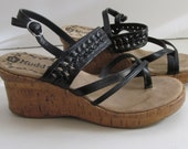 Wedge Sandals sz 6.5 Cork Heel Wedge Mudd Shoes Cork Wedge Sandals