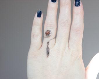 Dreamcatcher swirl ring