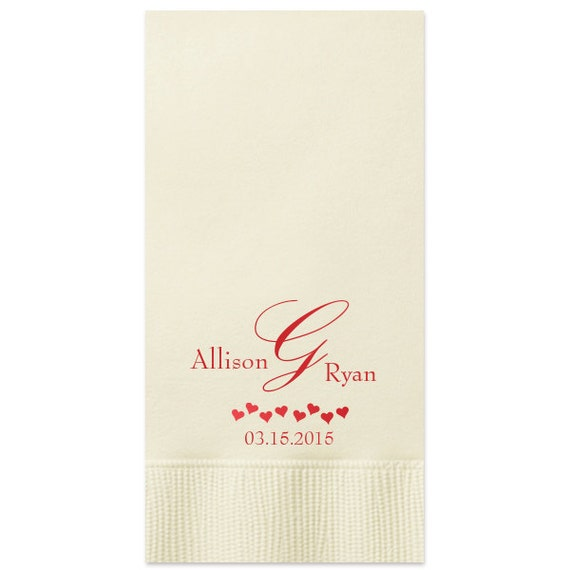 Paper Guest Towels Bathroom: 100 Personalized Guest Towels Dinner Napkins Wedding Paper