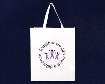 Grocery Purple Ribbon Tote Bag (RE-TBAG-04T-4)