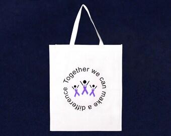 Grocery Purple Ribbon Tote Bag (RE-TBAG-04T-4)