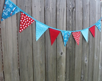 The Cat in the Hat Bunting Banner, The Cat in the Hat Birthday Banner, Thing 1 Thing 2 Banner, The Cat in the Hat Birthday decoration