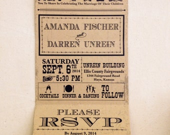 Rustic Folding Wedding Invitations (design only)