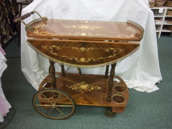Vintage Mid Century Modern Italian bar Cart inlaid wood tea : il570xN676697207kmc0 from www.etsy.com size 570 x 427 jpeg 55kB