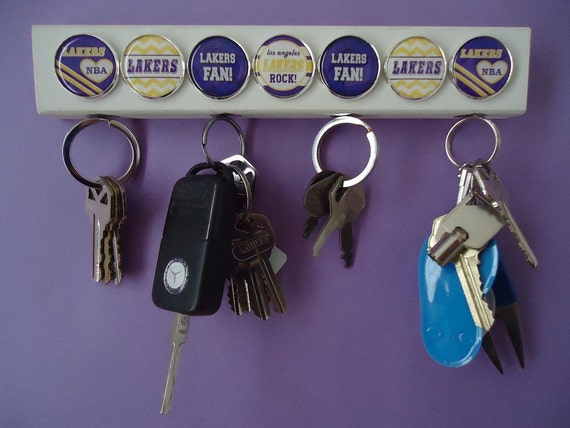 Inspired Nba Key Chain Holder Wooden Magnetic Wall Hanger Key