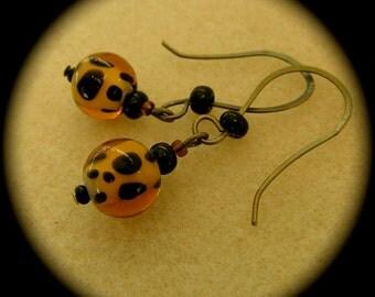 Clearance: Leopard Earrings