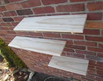 DIY wood wall shelves living room bathroom do it yourself kids room display shelf