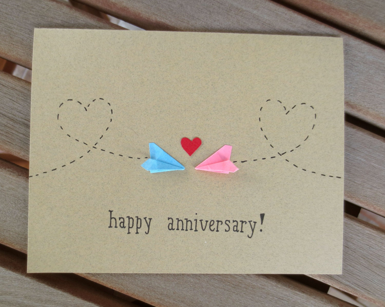 Anniversary card long distance anniversary card happy for Handmade anniversary gift ideas