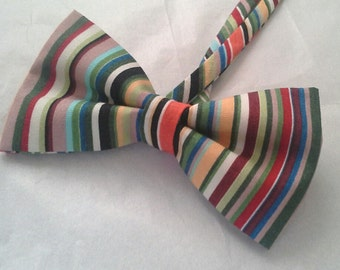 Striped men's bow tie