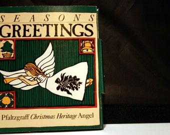 Pfaltzgraff Christmas Heritage Angel Ornament 1988