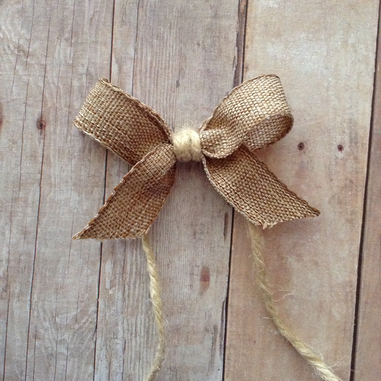 burlap natural bows small burlap decorative bows tiny. Black Bedroom Furniture Sets. Home Design Ideas