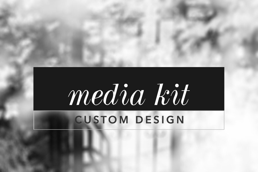 Custom Media Kit Design Media Kit Design For Bloggers Blog