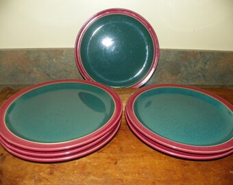 Denby Harlequin Salad Plates