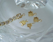 Gold Tone End Caps for Rhinestone Chains in Different Sizes - 20 Pieces