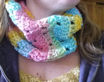 Ready to ship! Tutti Fruity Holy Cowl!