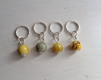 Glass Dragon Vein bead stitch markers