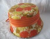 Sassy Orange Vintage Hat