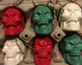 6 skull ornaments