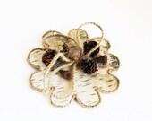 ON SALE Ring Pillow - Wedding Birch Bark Rings Pillows Flower Form Jute Ribbon Natural Handmade Bridal Ring Bearer Pillow Flower Girl Boy Da