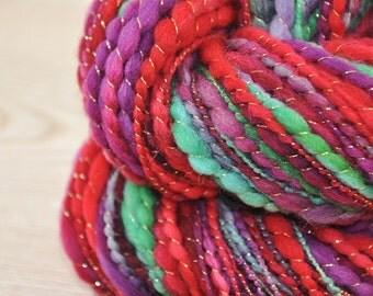 Handspun Art Yarn, Luxury textured Single TNT -Thick and Thin - Thread Plied - TENDER