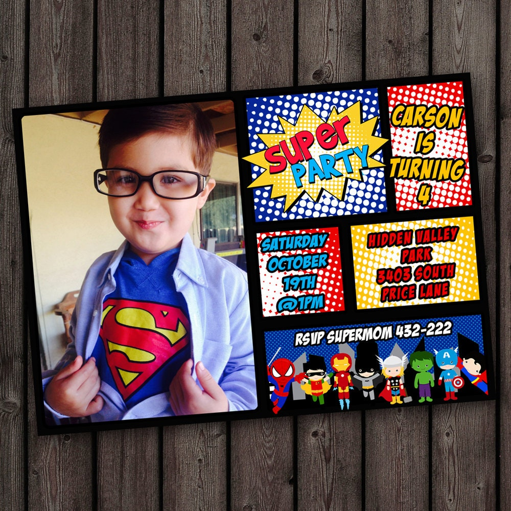 Spiderman invitation – Free Customizable Party Invitations