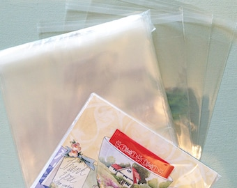 "Pack of 200 Self Sealing Cello Bags 5.75""w x 8.75""h, 1.2 Mil Food Grade Clear, 5-3/4""w x 8-3/4""h"