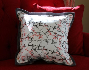 Liar Liar Pants On Fire pillow by Gigi Pop