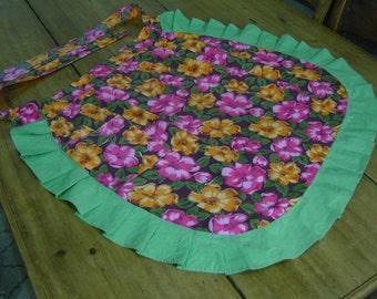 Floral Vintage Half Apron