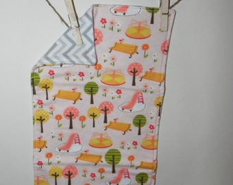 In the Park Cotton Flannel Burp Cloth
