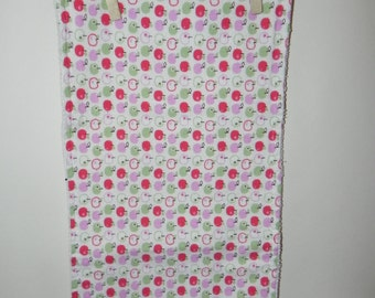 Apples Galore Cotton Flannel and Terry Burp Cloth