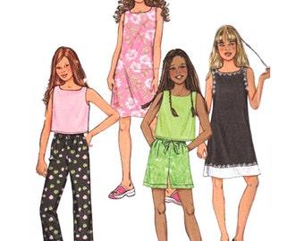 Butterick Sewing Pattern 3860 Girl's Plus Top, Dress, Shorts, Pants  Size:  10.5,12.5,14.5,16.5  Uncut
