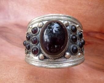 Vintage Cuff Bracelet with Stones